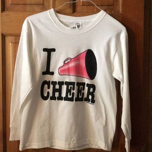 Other - NWT Girls 'I CHEER' long sleeve T-shirt